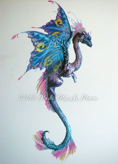 Flower Dragon Sculpture, Artemisia hand sculpted hanging dragon. by MadMarchMoon on Etsy my favorite.