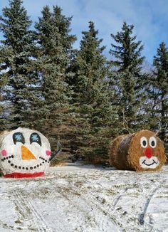 Christmas Hay Bales More