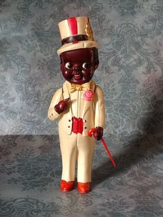 Black Americana celluloid doll, circa 1940s.