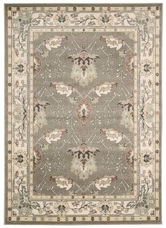 Features:  -100% Polypropylene.  -Gray/Ivory/Sage Green/Light Blue.  -Power-loomed.  Primary Color: -Multi-Colored.  Border: -Yes.  Border Color: -Gray.  Product Type: -Area Rug. Dimensions: Rug Size