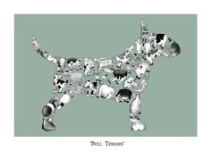 Bull Terrier  Signed giclée print by LouTateIllustration on Etsy, £35.00