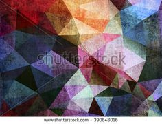 Abstract grunge background of triangles polygon wallpaper. Web design template - stock photo