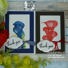 Brusho String Pull Single Layer Thank You Card