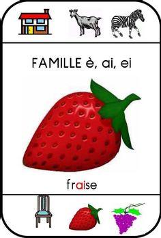 Jeu des sept familles pour apprentissage des sons en lecture : famille-e-ai-ei-fraise.JPG