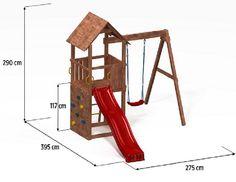 Kids Backyard Playground, Backyard For Kids, Backyard Playhouse, Build A Playhouse, Wood Swing Sets, Preschool Garden, Wooden Playset, Baby Diy Projects, Play Houses