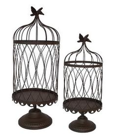 Take a look at this Birdcage Plant Stand Set on zulily today!