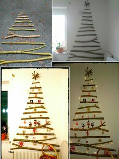 diy weihnachtsbaum aus st cken alternativer christbaum. Black Bedroom Furniture Sets. Home Design Ideas