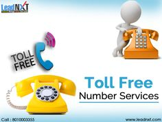 #TollFreeNumberServices can provides a gateway to your customers to reach out to you from anywhere without any change. You can also get an option to choose easy to remember numbers, which leads to more business opportunities. See more @ http://bit.ly/1b8808H #LeadNXT #TollFreeService