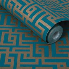 Graham & Brown's Zen Teal Wallpaper is inspired by the trellises of an Oriental Shoji screen. Order this copper and teal wallpaper from our exclusive collection. Teal Rooms, Teal Living Rooms, Teal Walls, Teal Wallpaper Living Room, Teal Kitchen Wallpaper, Bedroom Wallpaper, Dining Rooms, Diy Bedroom Decor, Diy Home Decor