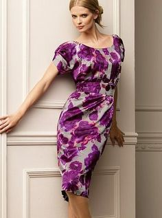 Couture Carrie: Purple Pattern Predilection Silk dress