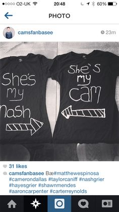 Best friend shirts @Cameron Dallas and @Nash Grier #nashnotice #nashtag I think this is too cute!!