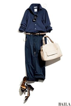Contrasting belt and purse. Mode Outfits, Fall Outfits, Casual Outfits, Fashion Outfits, Womens Fashion, Look Casual Otoño, Casual Chic, Office Fashion, Work Fashion
