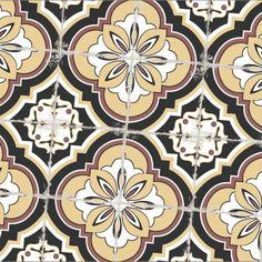 NIEUW! Knappe patroontegel met zacht verouderde look.   Spaanse keramisch patroontegel 20x20 formaat, zeer onderhoudsvriendelijk, kras- en vlekbestendig en kan gebruikt worden zowel als vloer- of  wandtegel. Deze tegel wordt veel geplaatst als vloertegel in keukens, badkamers of inkomhal. Als wandtegel kan hij perfect gebruikt worden als spatwandtegel in de keuken.
