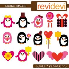 Clipart Lovely Penguins features cute penguins in black and pink. Digital clip art for commercial use, personal use, and classroom use.This cute digital clipart set is great for teachers and educators. The collection is suitable for school and classroom projects such as for bulletin board, learning printable, worksheet, classroom decor, craft materials, activities and games, and for more educational and fun projects.You will receive:- Each clipart saved separately in PNG format, 300 dpi with…