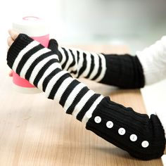 Button Arm Warmers in Black and White, 46% discount @ PatPat Mom Baby Shopping App