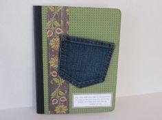 Denim Pocket Handmade Prayer Journal With Psalm Scripture by stufffromtrees on Etsy