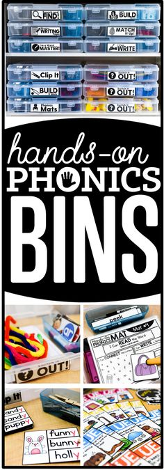 hands-on phonics bin