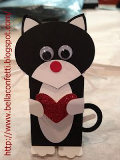 cat valentine box ideas * cat valentine box ideas & cat valentine box ideas for kids & cat valentine box ideas kitty & cat valentine box ideas for school & cat valentine box ideas free printable Cat Valentine, Valentine Day Boxes, Homemade Valentines, Valentines For Kids, Valentine Day Crafts, Paper Punch Art, Punch Art Cards, Cat Cards, Kids Cards