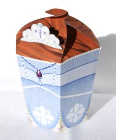 Sofia the First  Inspired LARGE Printable Gift Box by Shnookers, $5.00