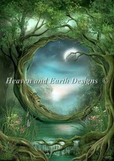 Day Night Fairy Land, Fairy Tales, Fairy Dust, Fantasy Kunst, Ouvrages D'art, Moon Art, Moon Moon, Pics Art, Fantasy World