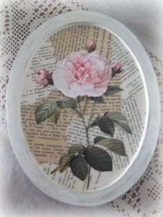 Decoupaged Shabby Chic French Rose Collage by theshabbychateau, $23.00