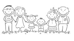 Happy cartoon famile with two children and grandparents royalty-free happy cartoon famile with two children and grandparents stock vector art & more images of adult Family Drawing, Drawing For Kids, Art For Kids, Doodle Drawings, Easy Drawings, Doodle Art, Happy Cartoon, Cartoon Kids, Family Coloring Pages
