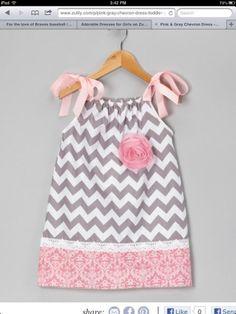 cute little dress for baby girl! Looks easy to make!