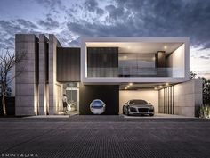 Software Architecture Design, Plans Architecture, Modern Architecture House, Sustainable Architecture, Villa Design, House Front Design, Modern House Design, Ultra Modern Homes, Modern House Facades