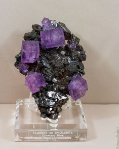Fluorite on Sphalerite, Elmwood, Tennessee