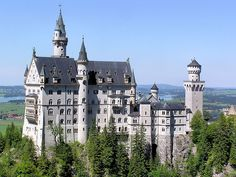 Neuschwanstein Castle - Germany. It is rumored that the Disney castle in Florida was modeled after this one.