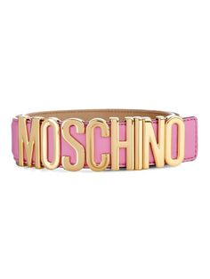 Moschino Lettering leather belt