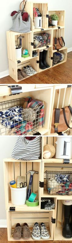 Small apartment organization ikea wardrobes 15 Ideas for 2019 Small Apartment Organization, Diy Apartment Decor, Small Apartment Decorating, Apartment Therapy, Diy Organisation, Small House Furniture, Farmhouse Furniture, Home Furniture, Furniture Storage