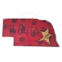 Excited to share the latest addition to my #etsy shop: The Rustic Patch, The Good Life, Door Charm, Nebraska Door Hanger, Nebraska Shaped Door Hanger, Nebraska The Good Life, Door Hanger http://etsy.me/2nIK0VS #housewares #homedecor #red #kitchendining #black #painting