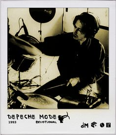 Alan Wilder on the drums during Devotional