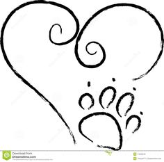 Paw Print Love - Download From Over 27 Million High Quality Stock Photos, Images, Vectors. Sign up for FREE today. Image: 11843218