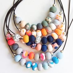 Fresh Re Stock of Unique Handcrafted Necklaces, just one of each colour available