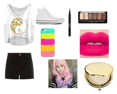 """""""whateves"""" by jj-2005-fashion on Polyvore featuring beauty, Converse, Stila, Casetify, Estée Lauder and Clair Beauty"""
