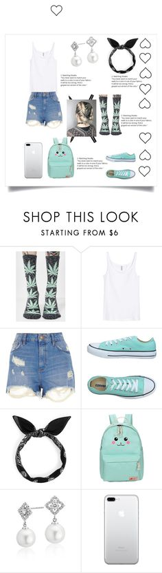 """my style-❤"" by authentic-fashion ❤ liked on Polyvore featuring HUF, River Island, Converse, Blue Nile and Bobbi Brown Cosmetics"