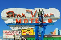 Photographer MITCHELL FUNK  Star View Motel  ONE EYELAND