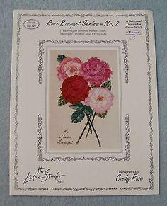 Rose Bouquet Series - No. 2 Cross Stitch Pattern Leaflet Cindy Rice Lilac Studio