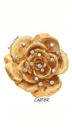 RosamariaGFrangini | HighJewellery Modern | MM&Co | Cartier Gold Flower Brooch: