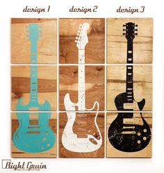 Benutzerdefinierte Gitarre-Kunst auf natürliche von RightGrain