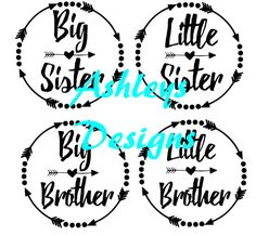 Big Brother Little Sister Svg Cutting Files
