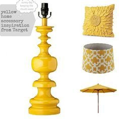 Yellow home accessories from Target