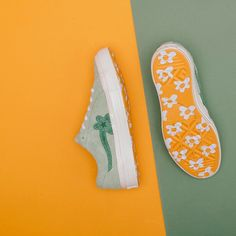 pinterest // @reflxctor TYLER THE CREATOR X CONVERSE GREEN COLOR COLLABORATION | RELEASE : 18 JANUARY | GOLF LE FLEUR | #tylerthecreator #golflefleur #converse #green