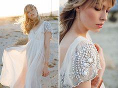 Rose Gold Lace Cuff and Rue De Seine Wedding Dress