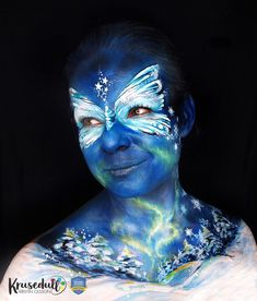 Northern butterfly face paint