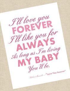 """8 X 10 Print """"Love You Forever"""" Robert Munsch"""