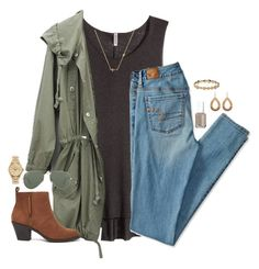 """""""read d!"""" by kaley-ii ❤ liked on Polyvore featuring H&M, Sydney Evan, American Eagle Outfitters, Forever 21, Ray-Ban, Essie, Kate Spade, Henri Bendel, Melinda Maria and women's clothing"""