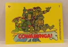 1989 Teenage Mutant NINJA TURTLES Sticker Trading Cards From TripleGCollectibles, $3.00